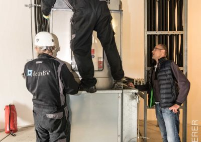 Aufzug einer Windkraftanlage