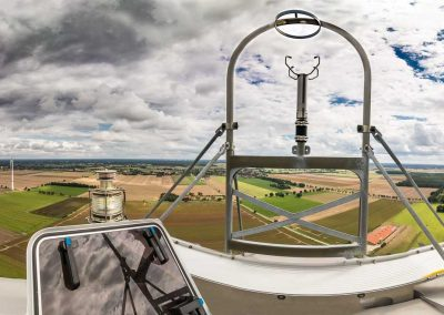 Panoramablick von einer Windkraftanlage