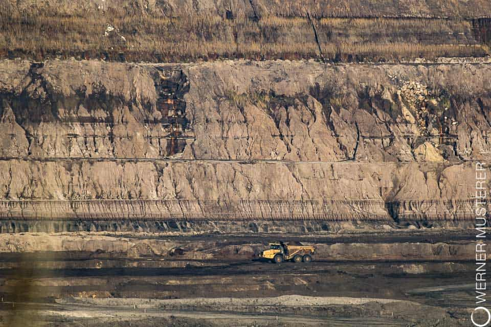 Brown coal surface mining